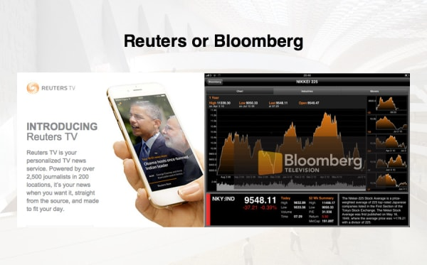 Looking at Bloomberg & Reuters | Caproasia com