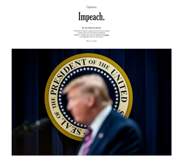 紐約時報14日社論。