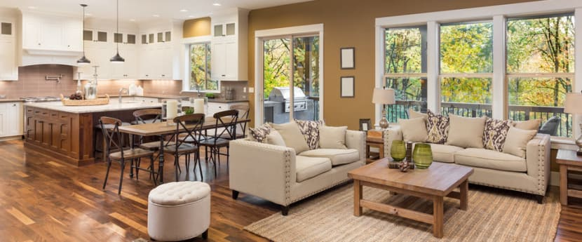 45 Open Concept Kitchen Living Room And Dining Room Floor