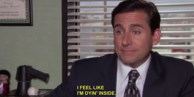 Image result for stressed out michael scott quotes