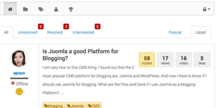 Joomla templates supports EasyDiscuss