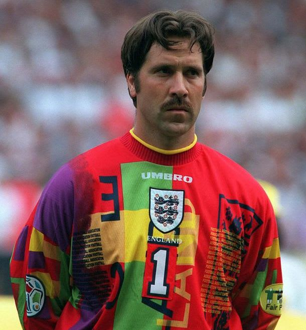 6656fc8a4ba David Seaman was England's number one which would have been great until you  found out you had to wear this shocker. It wasn't beautiful!