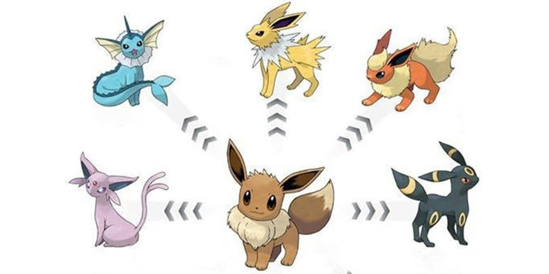 Eevee evolutions pokémon go