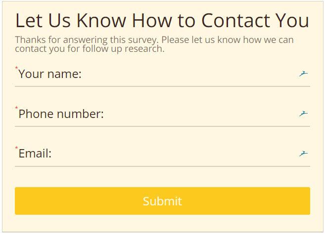 branded online form