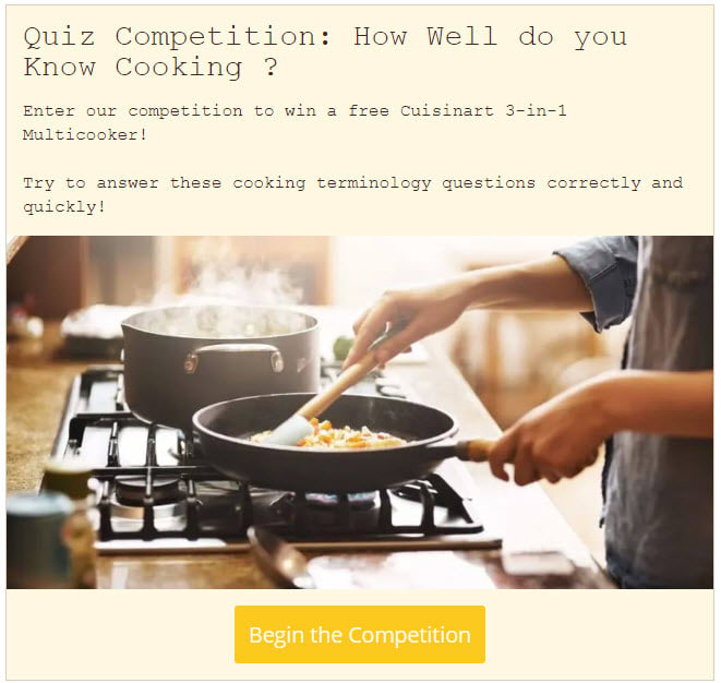 quiz competitions and contests