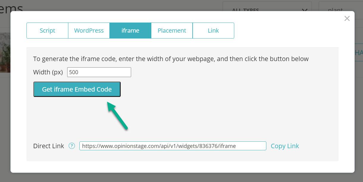 iframe embed code
