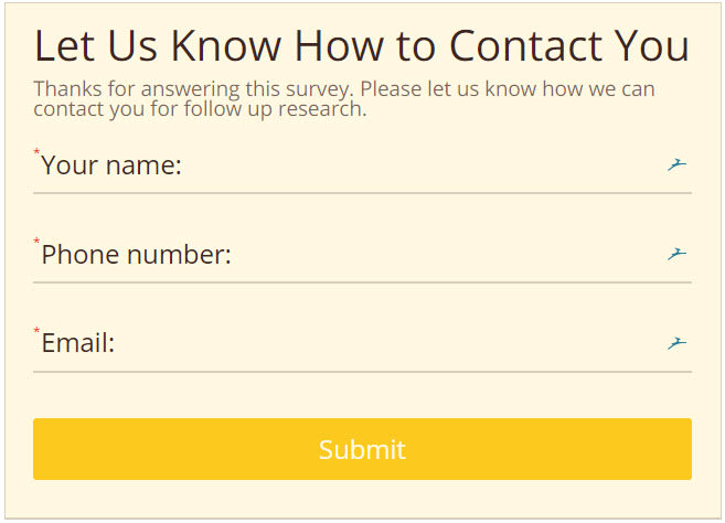 gather contact info